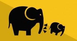 En forklaring på nudging - elefant puffer til en moder. Kom på nudgingkursus hos Brave. Se mere på www.nudging.nu. 10 efter bogen Nudge