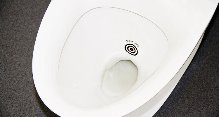 Fluen i toilettet designet af Brave