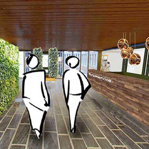 Eksempel på adfærdsdesign – navigation på bibliotek lavet af Brave