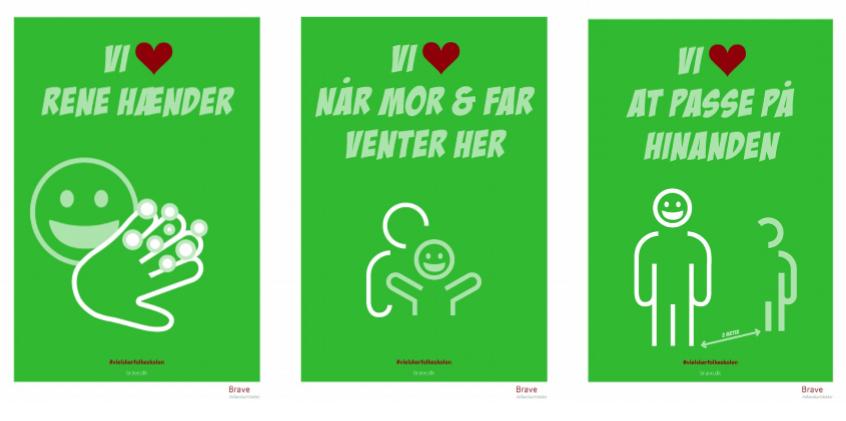 Vi elsker folkeskolen. Hygiejneplakater, nudging, adfærdsdesign. hygiejne-i-skolen